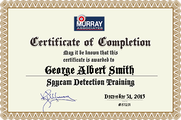 After completing the training course the student takes a short quiz. A personalized Certificate of Completion is issued.
