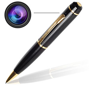 Spy pen camera. Records audio and video. Cost: 5.99 on eBay.